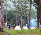 Chuẩn bị cơm chiều giữa rừng